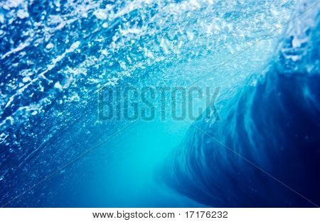 Blue Wave Underwater Perspective