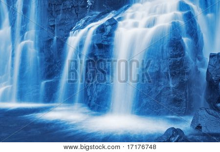 Relaxing Waterfall in Hawaii