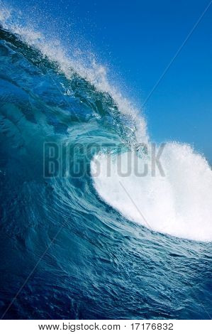 Blue Wave with Perfect Barrel