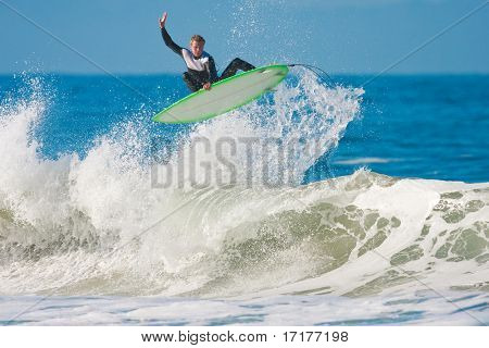 Surfer gets Big Air