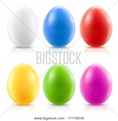 set of color easter eggs - vector illustration