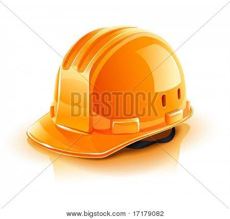 orange helmet for builder worker