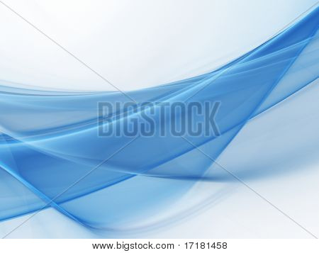 Blue wave. Abstract element for your design.