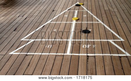 Shuffleboard Playing On A Cruise Ship 4
