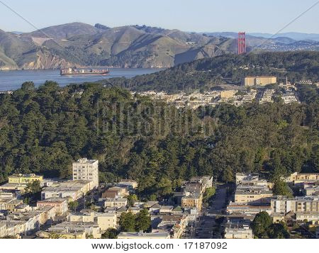 San Francisco Pano with Ship