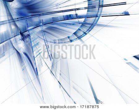 Abstrakte Techno 3d Komposition