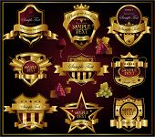 Wine golden ornate labels
