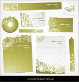 Vector business card set and letterhead poster