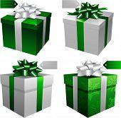 Постер, плакат: Зеленый праздник Рождество Подарочные коробки