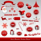 pic of boxing day  - Christmas boxing day icons collection - JPG