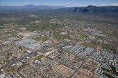 picture of snowbird  - Aerial view of the Superstition Mountains and Apache Junction, Arizona