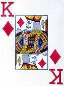 picture of playing card  - a close up image of a playing card King of Diamonds - JPG