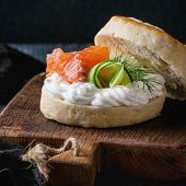 Постер, плакат: Cheese Scones With Salmon