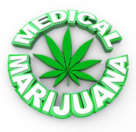 foto of mary jane  - The words medical marijuana surrounding a cannabis leaf icon - JPG