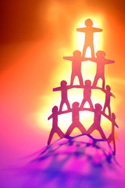 image of human pyramid  - Team - JPG