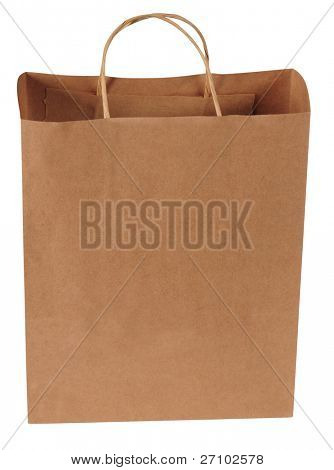 Manilla bag. Isolated