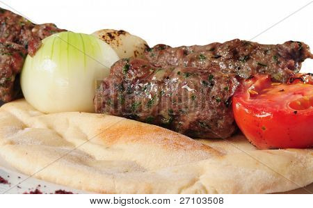 Shish kebab. Isolated