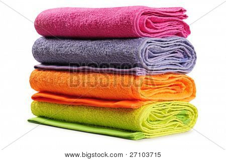 Bath towel. Isolated