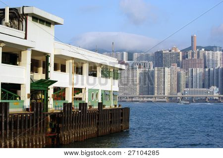 It is a ferry habour in hong kong