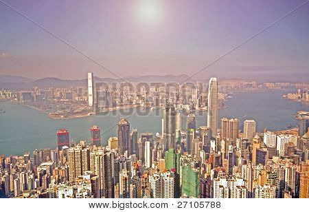 Hong Kong and modern buildings