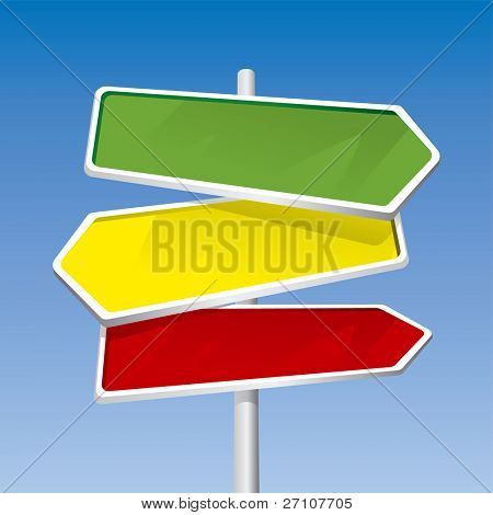 Direction Signs (editable vector) - also available rasterized jpeg in this gallery
