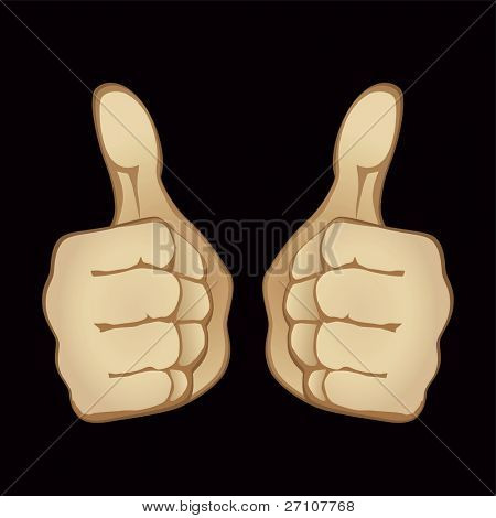 Approving Hand Gesture (Fully Editable Vector Image)