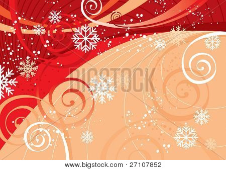 New Year's Fun Background (editable vector). In the gallery also available XXL jpeg image made from this vector