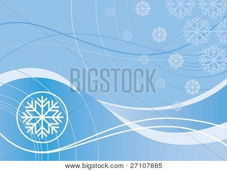 Winter Design (editable vector). In the gallery also available XXL jpeg image made from this vector