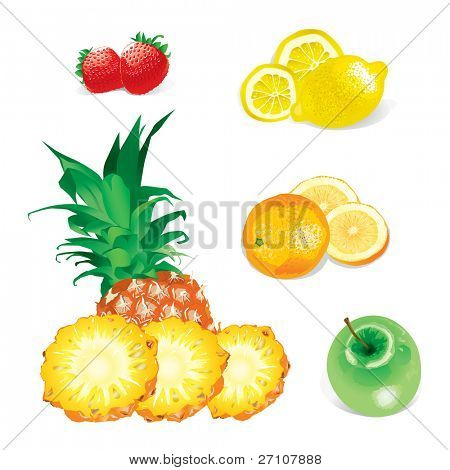 Fruits (in the gallery also available vector version of this image)