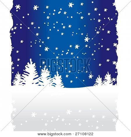 Winter Trees Background (vector). In the gallery also available XXL jpeg image made from this vector