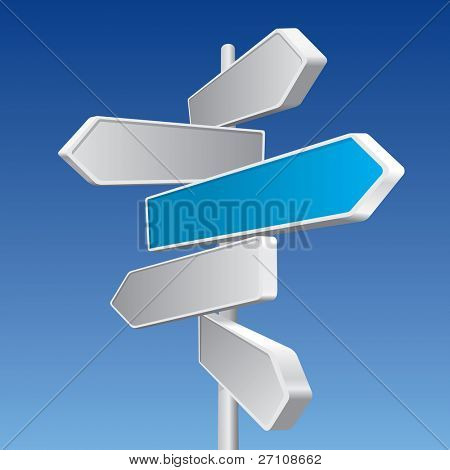 Directional Signs (vector). In the gallery also available XXL jpeg image made from this vector