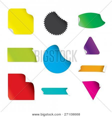 Stickers (vector). In the gallery also available XXL jpeg image made from this vector