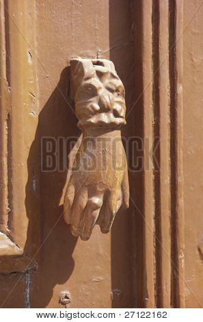 Doorknocker in Pathmos,Greece