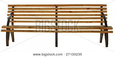 park bench . Isolated over white background .