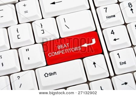 Beat competitors key in place of enter key