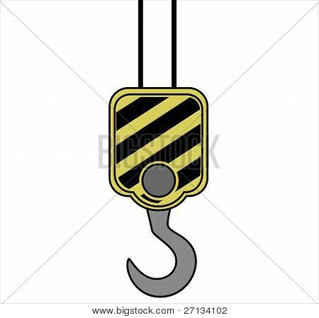 Yellow crane hook