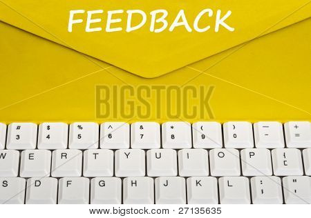 Feedback message on envelope