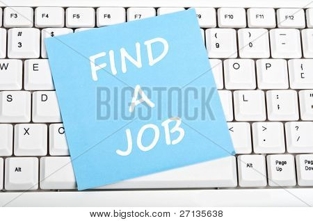 Find a job mesage on keyboard