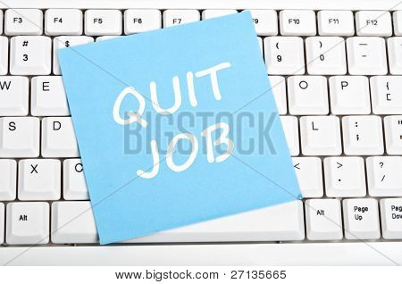 Quit job mesage on keyboard