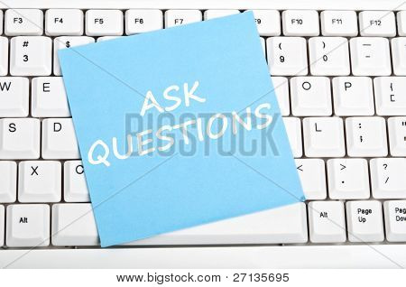 Ask question mesage on keyboard