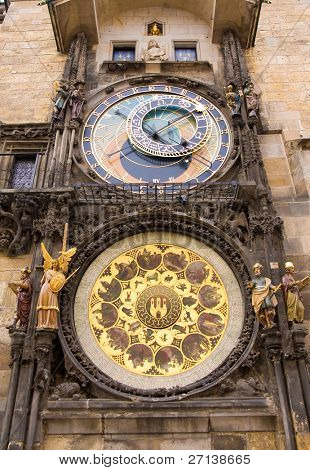 astronomical clock in prag, czech republic