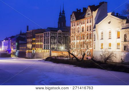 Old Town Of Opole Across