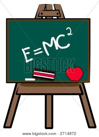Chalkboard On Easel E Mc 2