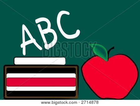 Chalkboard Apple Abc