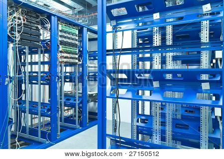 server room with racks