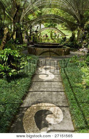 botanical garden at lake Bratan, Bali, Indonesia