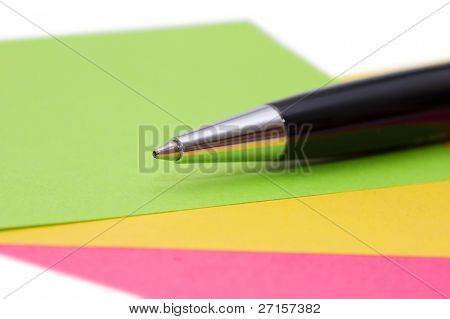 note isolated on white background