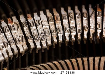Old text typing typewriter letter typebar