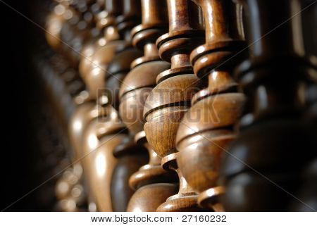 Wood stairs backround