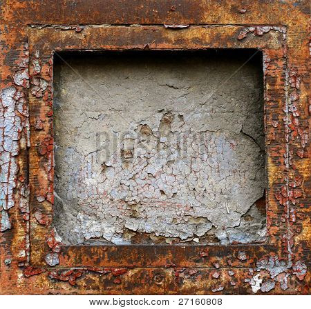 Abstract rusty grunge metal frame background